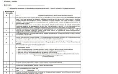 Publicada la lista de admitidos y excluidos para el proceso selectivo de Ujier en el Congreso