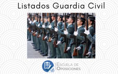 Listas Provisionales Guardia Civil