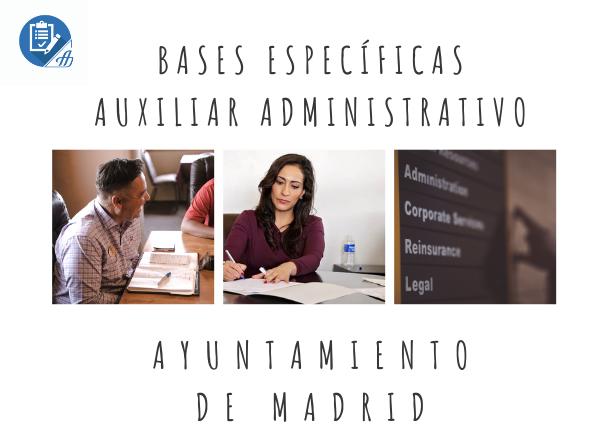 Publicadas las bases específicas para Auxiliar Administrativo del Ayuntamiento de Madrid
