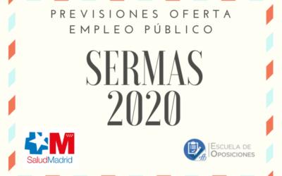 Previsión Oferta Empleo Público SERMAS 2020
