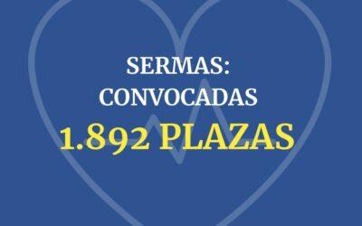SERMAS: Convocadas 1.892 plazas