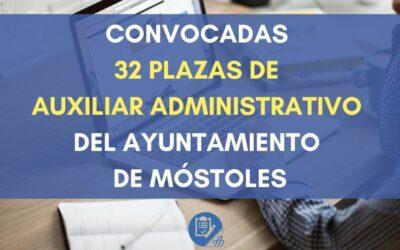 Convocadas 32 plazas de Auxiliar Administrativo del Ayuntamiento de Móstoles