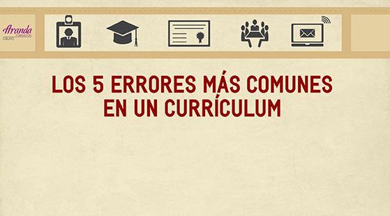 Los 5 errores más comunes en un currículum
