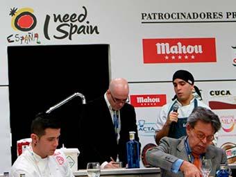 Alan Alexander Núñez Brito, alumno de la Escuela de Hostelería Aranda Formación finalista en el Concurso de Bocadillos de Autor de Fripan en MadridFusión 2016