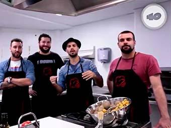 Efecto Pasillo cocina en la Escuela de Hostelería Aranda Formación de Madrid con Los 40 Principales