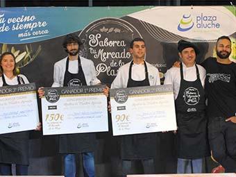 Jesús Pérez, alumno de la Escuela de Hostelería Aranda Formación, ganador del Concurso de Recetas de C.C Plaza de Aluche y Canal Cocina
