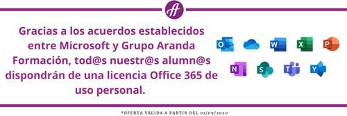 Licencia Office 365 de uso Personal